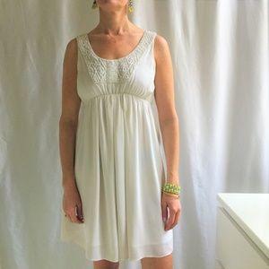 Club Monaco White Beaded Dress